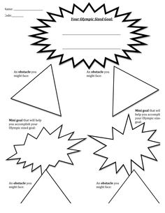 "Brainstorming Art Graphic Organizers | ... Your Life as an Olympic Obstacle Course"" packet for 3rd grade art unit"