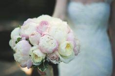 Beautiful spring peony and garden rose bouquet #studioag #studioagdesign Photo by: Colorandcakeweddings.com
