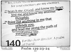Psalm 139:23-24
