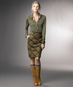 LL Bean makes awesome skirts now?! Shut the front door. Loving everything about this look for fall.