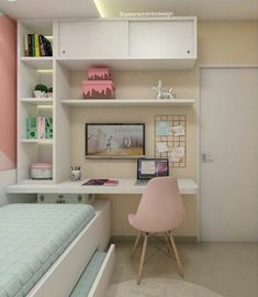 smart tips space saving ideas for your small bedroom ideas for small rooms diy smart tips space saving ideas for your small bedroom 15 Study Room Decor, Cute Room Decor, Room Ideas Bedroom, Girl Bedroom Designs, Small Room Bedroom, Tiny Bedroom Design, Space Saving Bedroom, Girls Bedroom Decorating, Small Bedroom Interior