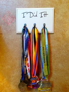 Medal Display Holder I Did It by FrameYourEvent on Etsy, $34.99