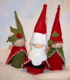Waldorf Inspired Santa Gnome Doll or Christmas by SweetLiddyBits