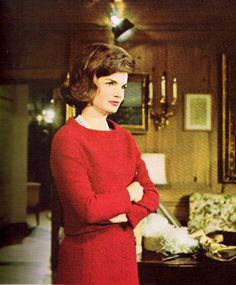 Jackie Kennedy filming her White House Tour with CBS.