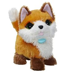 This sweet soft fox plush pet is so excited to play with you! When you pet your new little friend she'll walk and turn her head – and beatbox! As you pet her cuddly fur she'll make more than 20 b...