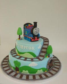 Thomas train - cake by nef_cake_deco