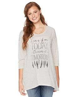 Motherhood Wendy Bellissimo Screen Print Maternity Top ** Click on the image for additional details.