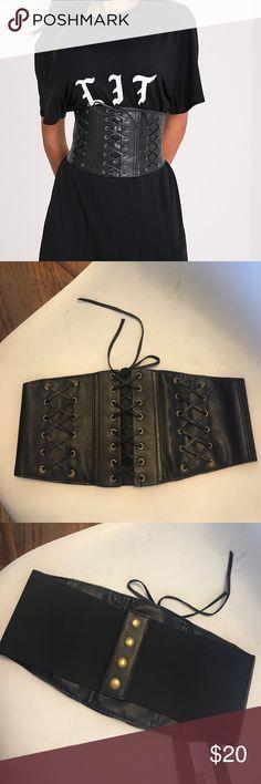 Pretty Little Thing Black Leather Corset Belt Pretty Little Thing Black Leather Corset Belt Pretty Little Thing Accessories Belts