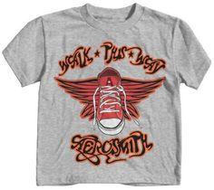 Aerosmith Walk This Way Little Boys Tee, Grey