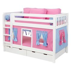 Have to have it. Hot Shot Girl Twin over Twin Tent Bunk Bed - $1135 @hayneedle