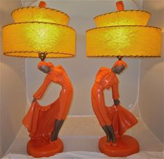 Pair of Reglor bullfighter lamps. Amazing restoration by http://hepcatrestorations.com/#