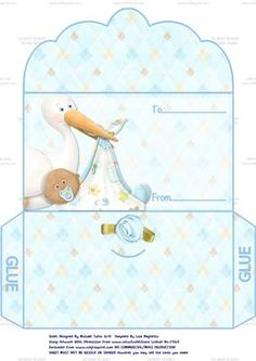 Congratulations On Your New Baby Boy Money Wallet 1 on Craftsuprint designed by… Stationary Printable, Boy Printable, Paper Toys, Paper Crafts, Paper Flower Patterns, Paper Box Template, First Birthday Party Decorations, Doll House Crafts, Diy Envelope