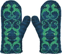 Seahorses Mittens by Violet Green
