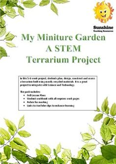 In this 5-6 week project, students plan, design, construct and assess a terrarium built using mostly recycled materials. It is a great project to integrate with Science and Technology. The pack includes:· Full Lesson Plans· Student workbook with all requires work pages· Rubric for marking · Links to... Miniture Things, Plan Design, Rubrics, Recycled Materials, Science And Technology, Assessment, Terrarium, Teaching Resources, Lesson Plans