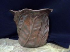 Beautiful terra cotta Leaf vase.