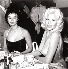 Her nipples were about to come onto my plate. In my face you can see the fear - Sophia Loren on Jayne Mansfield '57