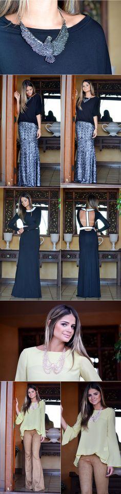 Destaque para o vestido preto!