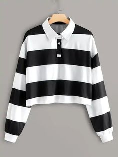 To find out about the Plus Color-block Striped Polo Tee at SHEIN, part of our latest Plus Size T-shirts ready to shop online today! Teen Fashion Outfits, Retro Outfits, Cute Casual Outfits, Fall Fashion, Emo Fashion, Curvy Fashion, Style Fashion, Jugend Mode Outfits, Polo Tees