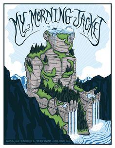 Jim Mazza My Morning Jacket Birmingham Poster Release