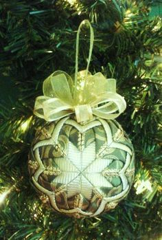 Quilted Christmas Ornament Pattern PDF Tutorial Holiday Ornament Pattern. $4.95, via Etsy.