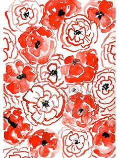 Hey, I found this really awesome Etsy listing at https://www.etsy.com/listing/188076128/playful-poppies-print-from-original