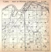 Pekin Township 1, Cincinnati Township, Hawley Station, Stoehrs Station, Illinois River, Tazewell County 1930c