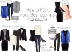 How to pack for business trip From Travel fashion girl