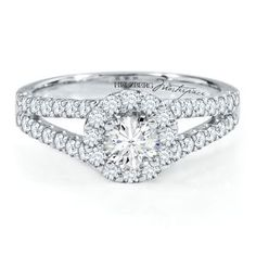 18kt White Gold 1 1/5ct TW Round Diamond Engagement Ring, GIA® Graded, Helzberg Diamond Masterpiece®, Degas Diamond™