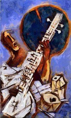 artist Maqbool Fida Husain (Pandharpur, India 1915~2011 London, UK)