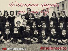 #melomerito  Oggi più che mai la cultura e la gratuità dell'istruzione sono beni fondamentali, da rispettare e conservare.   I nostri figli meritano un'istruzione adeguata e noi abbiamo il dovere di garantirgliela.    http://www.flickr.com/photos/peterboc/6651965613/