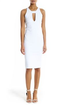 fa62e4b84af9c Adoring this bright white dress that is chic and sophisticated. Linen  Dresses, Cute Dresses