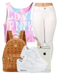 """follow me on musical.ly:Brie.Y1"" by clinne345 ❤ liked on Polyvore featuring Wet Seal, MCM and NIKE"