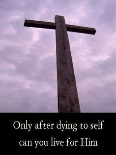 I have been crucified with Christ. It is no longer I who live, but Christ who lives in me.. Galatians 2:20 ESV