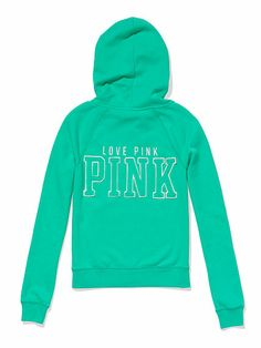 Victoria's Secret Pink Perfect Zip Hoodie - Teal