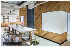 Coleta - Creative Wood.  Love that white board wrapping the corner.