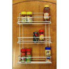 Amazon.com: Grayline 40552, 3 Shelf Gourmet Spice Rack, White: Home & Kitchen