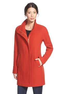 Just bought this to be my new winter coat. You'll definitely be able to spot me in a crowd! Ellen Tracy Wool Blend Stadium Coat (Regular & Petite) available at #Nordstrom