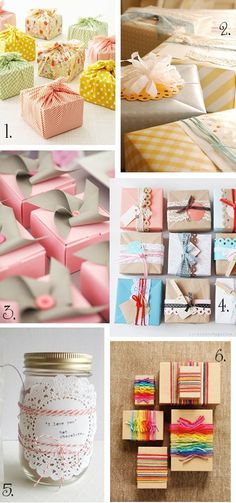 Beautiful diy gift wrap ideas made from found objects and recycled craft leftovers.