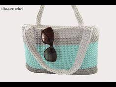Jak szydełkiem zrobić torbę ze sznurka - ilta4crochet - YouTube