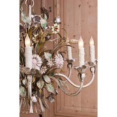 Antique Lighting | Antique Chandeliers | Vintage Venetian Painted Chandelier | www.inessa.com