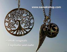 Engelsrufer und Symbolschmuck, Baum des Lebens, Flügel, Edelsteine .... www.samakishop.com #samakioriginalsengelrufer #samakioriginals #engelrufer #samaki #mallorca #sterlingsilver