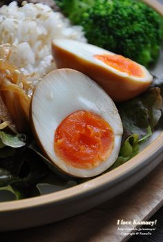 Soysauce Seasoned Egg (aka Japanese Ramen Egg) on Rice | Ajitama 味玉