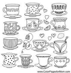 Tea cup, coffee cup, saucers, set simple sketch icon black line isolated on white background Doodle, cartoon drawing illustration Vintage Retro style Drinks - vector Stock Vector - 24013020 Doodle Drawings, Cartoon Drawings, Doodle Art, Doodle Cartoon, Magic Doodle, Doodle Ideas, Outline Drawings, Cartoon Images, Tea Cup Drawing