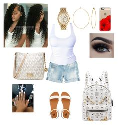 """""""Untitled #36"""" by saucinliya on Polyvore featuring True Religion, MCM, 2b bebe, Michael Kors, Casetify and Phyllis + Rosie"""