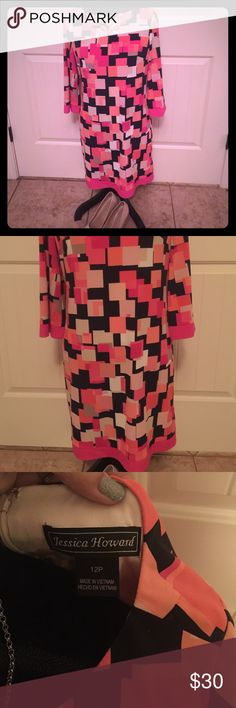 Gorgeous 3/4 Sleeve Jessica Howard Shirt Dress Gorgeous 3/4 Sleeve Jessica Howard Dress- worn once for 2 hours. In perfect condition!!!!! Jessica Howard Dresses Midi