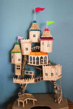 Elasticpantcity – About Michelle A Vancouver Mom Lifestyle and Fashion Blog A DIY Popsical Stick Tree Top Castle