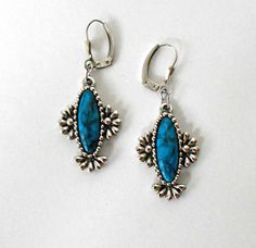 Your place to buy and sell all things handmade Vintage Brooches, Vintage Earrings, Vintage Jewelry, Pierced Earrings, Drop Earrings, Blue Clouds, Coventry, Dangles, Buy And Sell