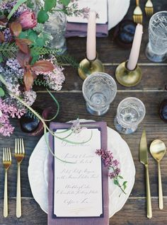 Pantone 2016: Lilac Gray Wedding Inspiration Image Crediting: Jessica Burke via wantthatwedding.co.uk