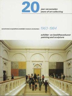 """""""20 jaar verzamelen (20 years of art collecting)"""" Exhibition Catalog, Stedelijk Museum, Amsterdam, Designed by Wim Crouwel, Jolijn van de Wouw, 1984"""