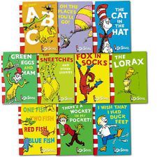 Dr Seuss Childrens Collection 10 Books Set Pack Wonderful Paperback Lorax & ABC